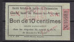 BELGIQUE BON DE 0.10FR DE BOUSSU LEZ WALCOURT - Documents Historiques