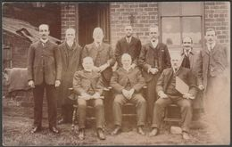 Edwardian Company Men, C.1905-10 - RP Postcard - To Identify