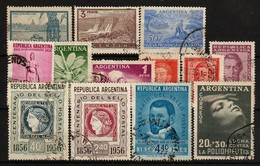 ARGENTINIË - 1956 - Lotje Van 13 Zegels  - USATO/USED/OBLIT./GESTEMPELD/GEBRAUCHT - °1 - Argentine