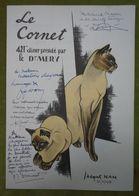 Grand Menu - 421e Diner Présidé Par Le Dr MERY - Le Cornet - Illustration De Jacques NAM - Nombreux Envois - Menus