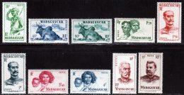 Madagascar 1946 Yvert 300-304-305-307/309-311-312-315- 316 ** TB - Madagascar (1889-1960)