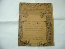 ENCOMIO FEDERAZIONE DELLE ASSOCIAZIONI PENSIONATI FERROVIARI DEL REGNO GENOVA 1927. - Diplomi E Pagelle