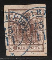 """Nr. 4 Blauer Stp. """" BLEIBURG """" R! ANK € 280,-  ,  # A07 - 1850-1918 Empire"""