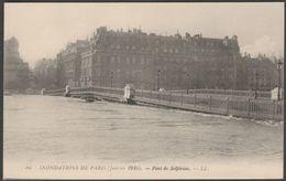 Pont De Solférino, Inondations De Paris, 1910 - Lévy CPA LL86 - Paris Flood, 1910