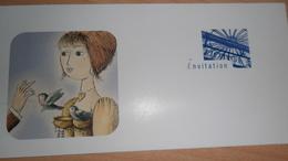 CARTE INVITATION VERNISSAGE ET EXPOSITION R.PEYNET 1997  A CHARENTON- LE -PONT - Cartes