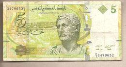 Tunisia - Banconota Circolata Da 5 Dinari P-95 - 2013 - Tunisia