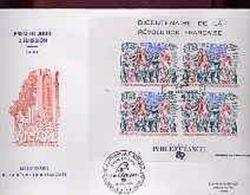 TAAF 1989, 200th French Revolution, FDC - Franz. Revolution