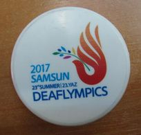 AC -  23rd SUMMER DEAFLYMPICS OLYMPIC GAMES FOR THE DEAF SAMSUN 2017 OFFICIAL BRAND NEW CROWN CAP BOTTLE OPENER - Flessenopener