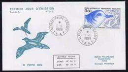 TAAF 1989, Flora And Fauna, Bird, FDC - Marine Web-footed Birds