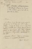 Carlsrouhe Karlsruhe 1808 Le Miistre Pléuipoteutiaire Exradiction Des Titres Et Papiers - Documents Historiques