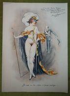 Grand Menu - 255e Diner - Le Cornet - 25 Octobre 1927 Présidé Par Magny - Belle Illustration De Armand Segaud-femme Nue - Menus