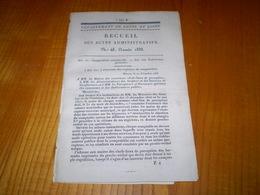 Mâcon 1833:Instruction Primaire:fourniture & Prix Des Documents Pour La Tenue Des écoles. Comptabilité Communale - Documents Historiques