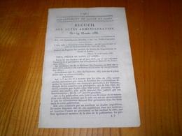 Mâcon 1833:Poids Et Mesures,acquisition De Série De Poids étalons. Contributions Directes, Mise En Recouvrement 1834 - Documents Historiques