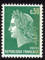 France 1969 Yvert 1611b ** TB Bande Phosphore Bord De Feuille - France