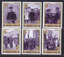 AJMAN AERIENS N°   82 ** MNH Neufs Sans Charnière, 6 Valeurs, TB (D5039) Général De Gaulle - Ajman