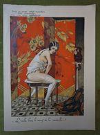 Grand Menu-267e Diner-Le Cornet -30 Jan 1929 Présidé Par Baudichon-Belle Illustration De Armand Segaud-femme Presque Nue - Menus