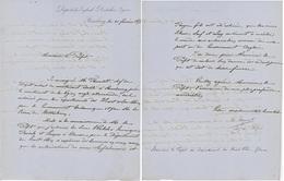 Strasbourg 1856 Dépot Der Englisch Deutschen Anglo Allemande Légion Judaïca Huningue - Documents Historiques
