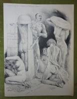 Grand Menu-315e Diner-Le Cornet -28 Mars 1935 Présidé Par Cochery-Belle Illustration De Jonas - Femmes Nues - Menus