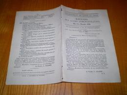 Mâcon 1833:Instruction Primaire: Liste Des Membres Des Comités D'arrondissement:nom,profession.Recensement Classe 1833 - Documents Historiques