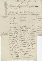 Massevaux 1814 Valdoie Réquisition Armée Les Deux - Documents Historiques