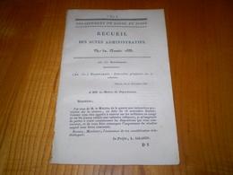 Mâcon 1833:Recrutement:autorisation D'absence,de Déménagement.Délits Commis Par Jeunes Soldats,discipline... - Documents Historiques