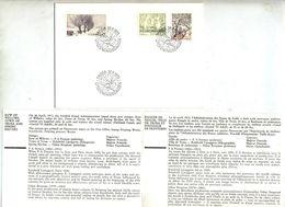 Notice + Lettre Fdc 1973 Saules - FDC