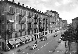 "07411 ""TORINO - VIA PRINCIPI D'ACAJA""  ANIMATA, AUTO, VERA FOTO, S.A.C.A.T. 1043. CART NON SPED - Places & Squares"