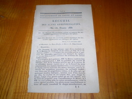Mâcon 1833:Servitudes Actives & Passives Des Immeubles Appartenant Aux Fabriques Des églises - Documents Historiques