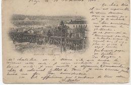 78..SAINT CYR  SORTIE GALETTE.GARE TRAIN.1900.CARTE NUAGE TRES ANIMEE..DOS ENTIER - St. Cyr L'Ecole