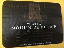 6907 - Château Moulin De Bel-Air 1988 Bergerac - Bergerac
