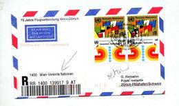 Lettre Recommandee Vol Wien Zurich - Airplanes