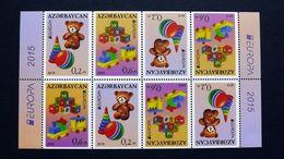 Aserbaidschan 1093/4 DD **/mnh, EUROPA/CEPT 2015, Historisches Spielzeug - Azerbeidzjan