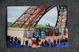 La TOUR EIFFEL à 100 ANS - Oeuvre Originale De : André LE GUILLOUX - Eiffelturm
