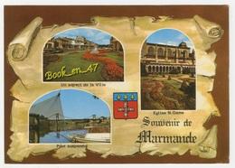 {57429} 47 Lot Et Garonne Souvenir De Marmande , Multivues ; Pont Suspendu , Eglise Notre Dame , Un Aspect De La Ville - Marmande
