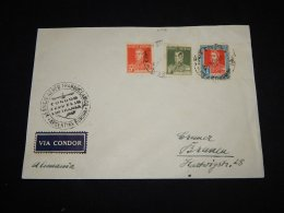 Argentina 1934 Condor Zeppelin Cover To Germany__(L-11016) - Argentine