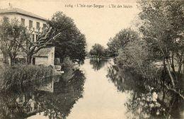 CPA - L'ISLE-sur-SORGUE (84) - Aspect De L'îles Des Joutes Au Début Du Siècle - L'Isle Sur Sorgue