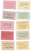 10 Vignettes ANTI JUIF Et ANTI FRANC MACON 1930-1935 - Documents Historiques