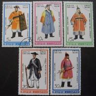 COREE DU NORD Série N°1538 Au 1542 Oblitéré - Stamps