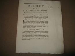 DECRET CONVENTION NATIONALE ASSIGNATS 3 CLES 165 MILLIONS CAISSIER GENERAL 1793 - ...-1889 Francos Ancianos Circulantes Durante XIXesimo