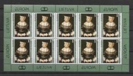 1996 MNH Lithuania, Sheet - Europa-CEPT