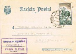 27577. Tarjeta BERLANGA De DUERO (Soria) 1960. Comercial Confiteria Izquierdo - 1951-60 Briefe U. Dokumente