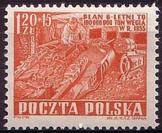 1952, Poland, Mi 777, Socialist Competition - A Six-year Plan. Coal Mine, Coal, Mining,, MNH** - Ongebruikt