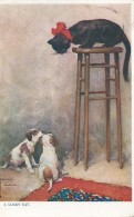 Kat Chat Cat Katz - A Lucky Cat - Raphael Tuck - Dog Humour - N° 8622 - Chats
