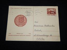 Czechoslovakia 1949 Stationery Card To Poland__(L-12049) - Ganzsachen
