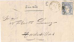 27580. Carta Entera BILBAO 1871. Alegoria España. Variedad Fechador Sin Año - Cartas