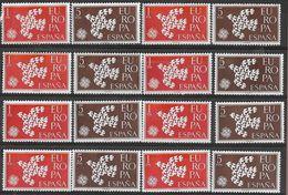 _7Rr-962 :  Restje Van 8x De Zegels : Europa Uitgifte 1961 N° 1044/45 ... Postfris - 1961-70 Neufs