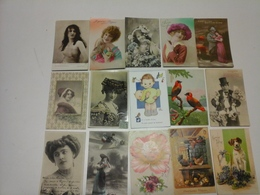 Lot Sympa De 510 Cartes Fantaisies Fantaisie - Postcards