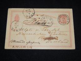 Denmark 1891 Köbenhavn 10ö Red Stationery Card__(L-10963) - Entiers Postaux