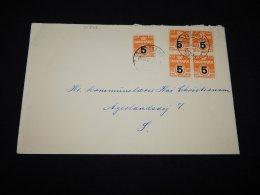 Denmark 1955 Overprint Stamp Cover__(L-10773) - Denmark