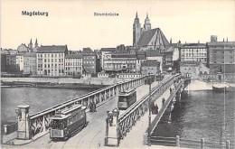 DEUTSCHLAND Allemagne ( Saxe Anhalt ) MAGDEBURG : Strombrücke ( Tramway ) - CPA - Germany - Magdeburg
